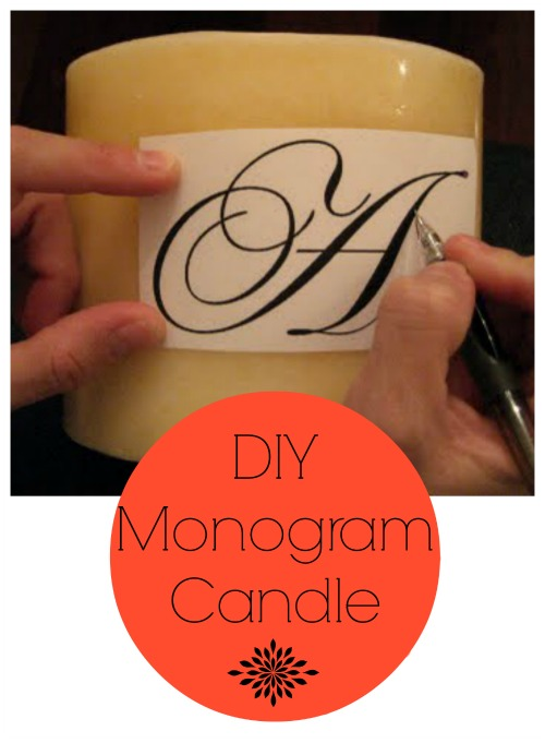 DIY Monogrammed Candles {12 Days of Handmade Christmas Tutorials} Day 8
