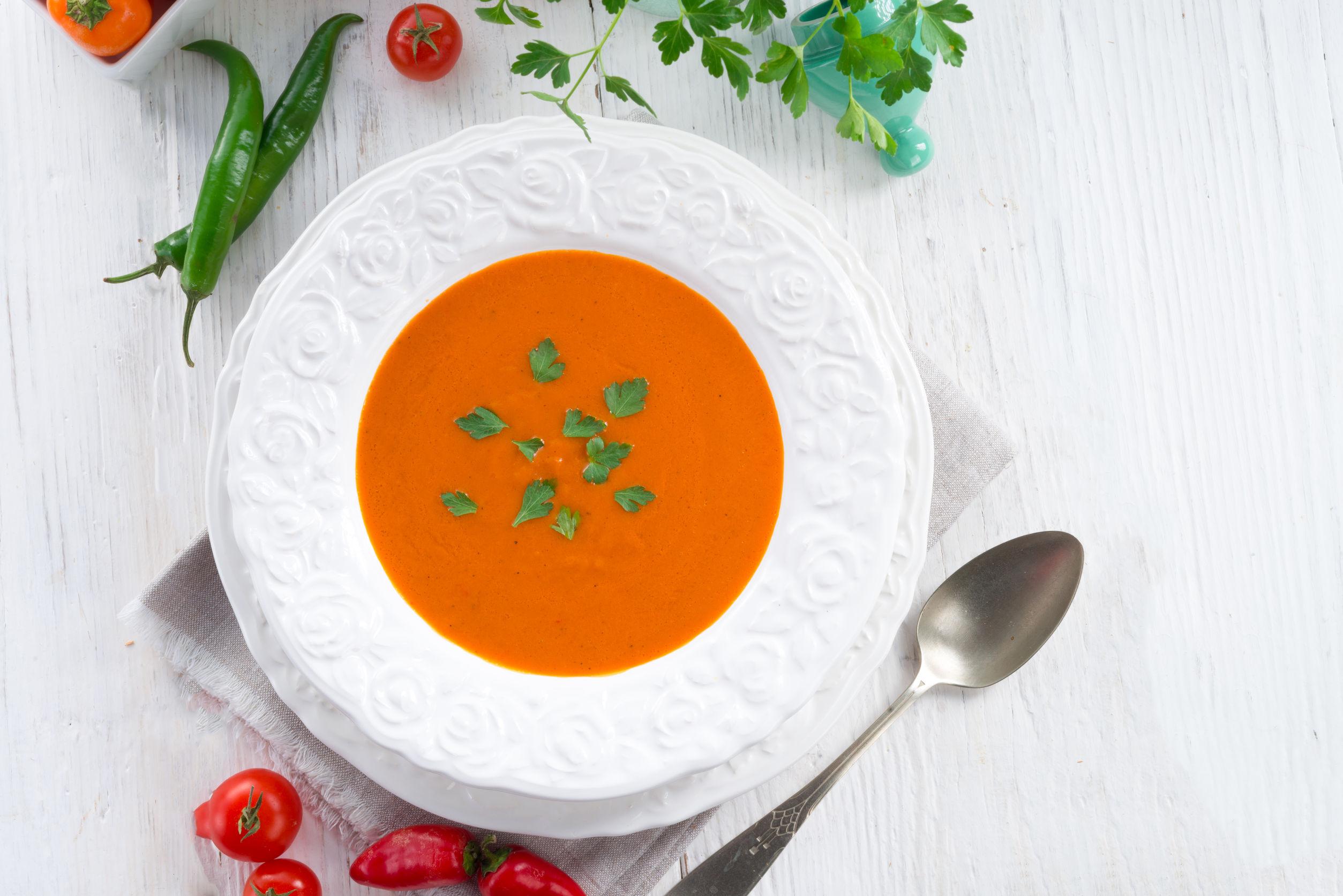 39100297 - paprika soup