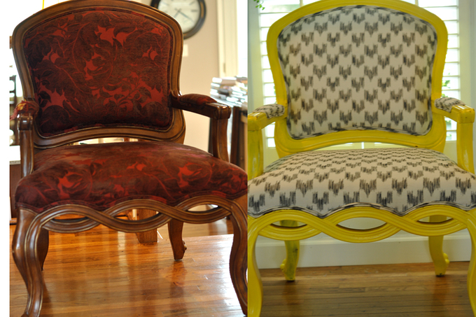 Queen Chair Before/After and a Fair Little Brunch