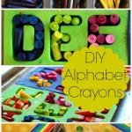 DIY Alphabet Crayons