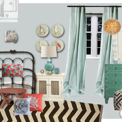 Design Board for the Girls' Room