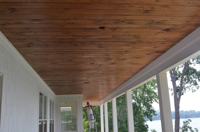 Project Restoration:: Stone and Porch Ceilings