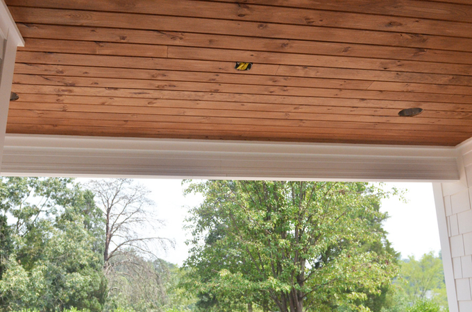 we got this wood - Wood Under Porch Ceiling
