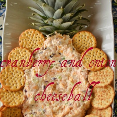 Cranberry and Onion Cheeseball aka Christmas Cheeseball