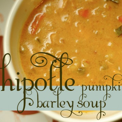 chipotle pumpkin barley soup
