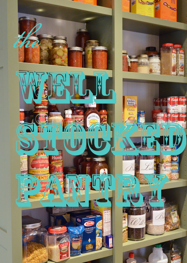 31 Days to Hospitality::Day 18 The Well Stocked Pantry