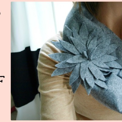 12 Days of {handmade} Christmas Tutorials::Day 9 DIY Felt Scarf