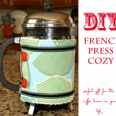 12 Days of Christmas Tutorials::Day 2 French Press Cozy