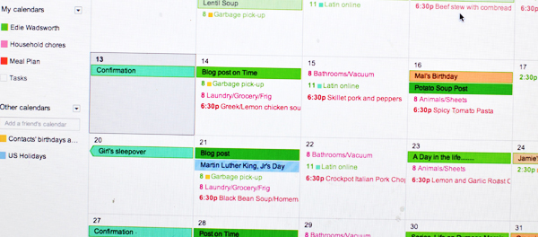 menu planning for busy moms