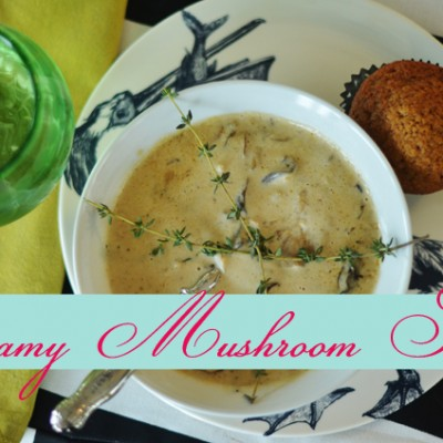 {Creamy and Tangy} Mushroom Soup