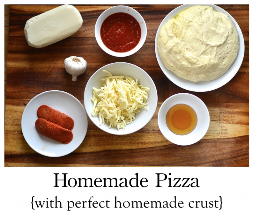 Thumbnail image for Homemade Pizza, {how to make the perfect pizza crust}