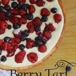 raspberry tart with pastry cream