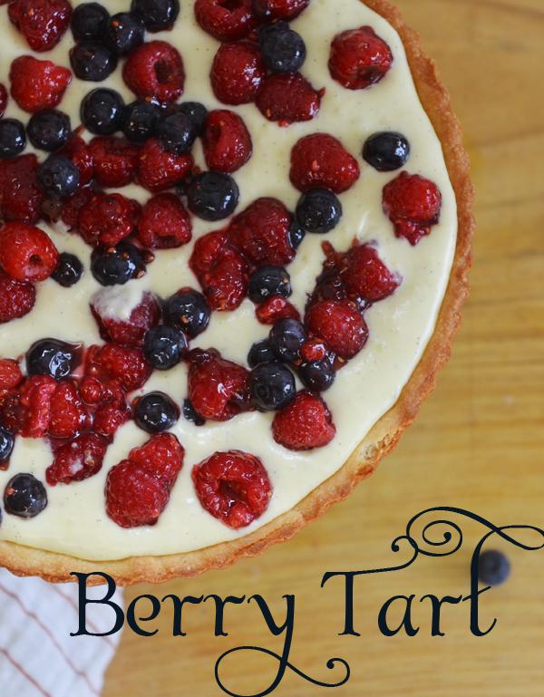 raspberry tart with pastry cream