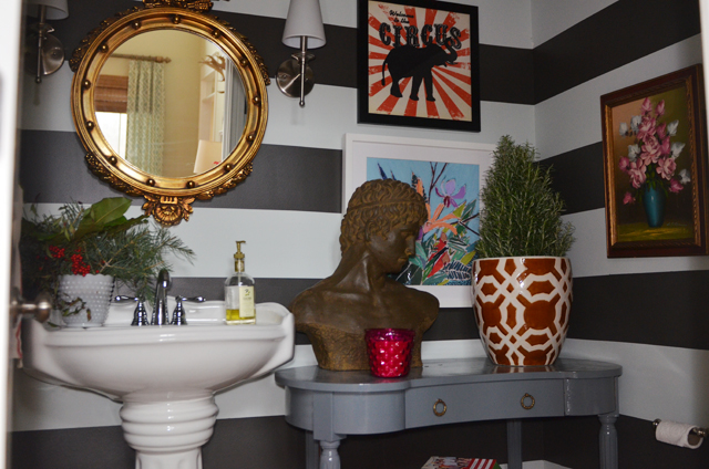 striped bath DIY