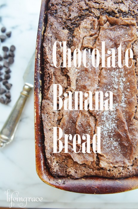Chocolate Banana Bread {with chocolate chips}