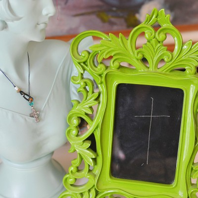 {ditto} DIY:: Framed Fabric and a Cross