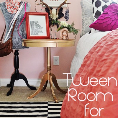 {ditto} DIY:: Tween Girl's Room and a Gold Painted Table