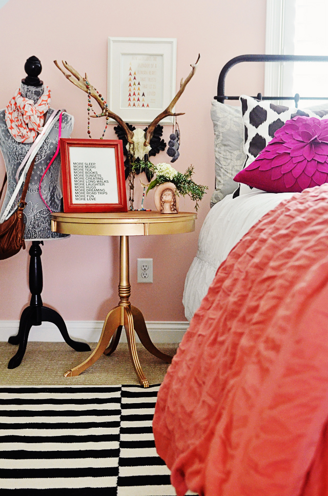 http://www.lifeingraceblog.com/2013/06/ditto-diy-tween-girls-room-and-a-gold-painted-table/