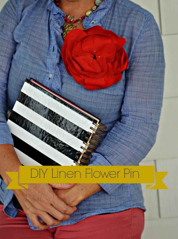 DIY Linen Flower Tutorial {Emerson Flower Hack}