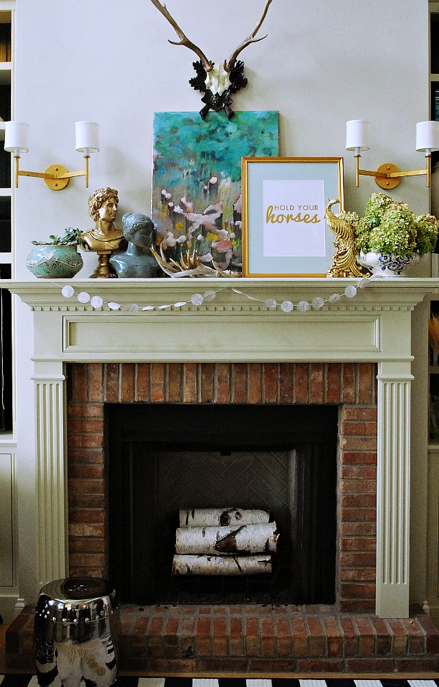 Eclectic Fall Mantel