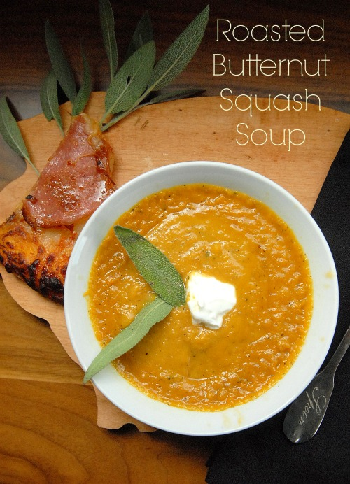 Roasted Butternut Squash Soup via lifeingrace