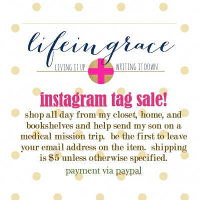 Instagram Tag Sale and Supporting Missions