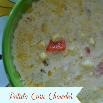 Potato Corn Chowder {and my love affair with bacon fat}