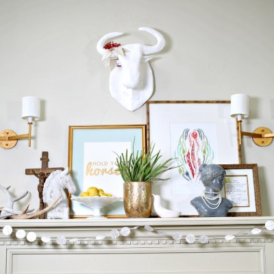 What's On My Spring Mantel