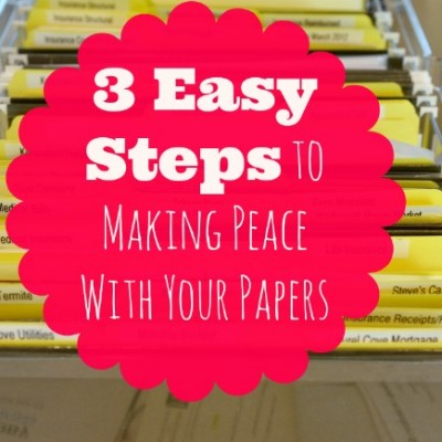 The Lazy Girl's Guide to Taming Paperwork