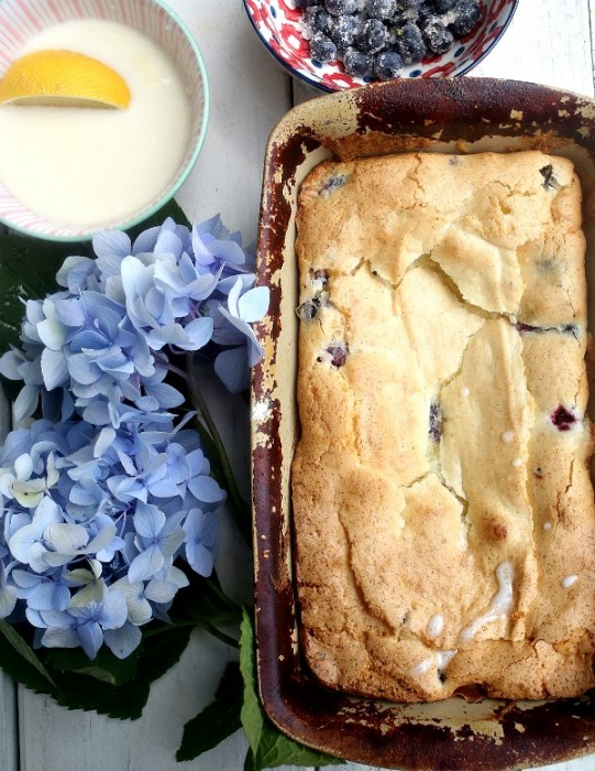 Best Ever Blueberry Coffee Cake {with Lemon Glaze}